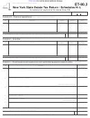 Schedules H-l (form Et-90.3) - New York State Estate Tax Return