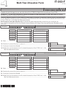 Fillable Form It-203-F - Multi-Year Allocation Form Printable pdf