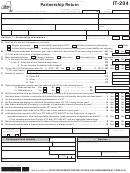 Form It-204 - Partnership Return - 2014