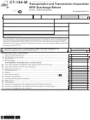 Form Ct-184-m - Transportation And Transmission Corporation Mta Surcharge Return - 2014