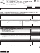 Form Ct-236 - Credit For Taxicabs And Livery Service Vehicles Accessible To Persons With Disabilities - 2014