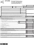 Form Ct-240 - Foreign Corporation License Fee Return - 2014