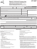 Form Ct-397 - Report Of Annual License Fee - 2014