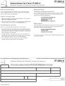 Form It-205-v - Payment Voucher For Fiduciary Income Tax Returns