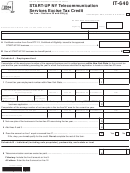 Form It-640 - Start-up Ny Telecommunication Services Excise Tax Credit - 2014