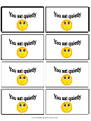 Sat Quietly Gift Coupon Template