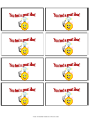 Great Idea Gift Coupon Template