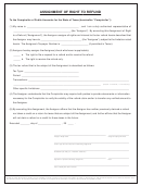 Form 00-985 - Assignment Of Right To Refund
