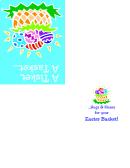 Easter Basket Fold Card Template