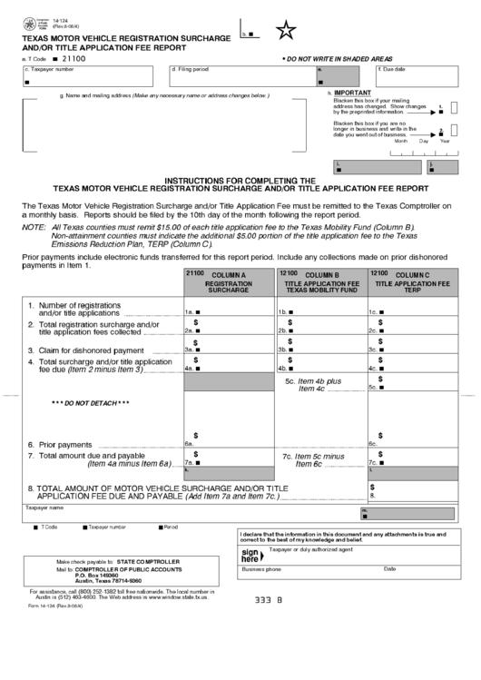 Texas Motor Vehicle Registration