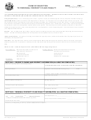 Form Pa-133 - Form Of Objection To Personal Property Filing Penalty