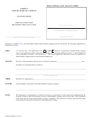 Form Mllc-2 - Application For Registration Of Name - 2011