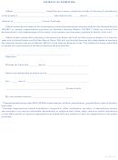 Form 92a300 - Affidavit Of Exemption