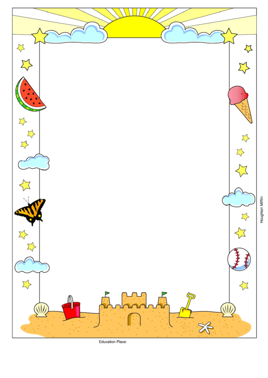 summer writing paper printable pdf download