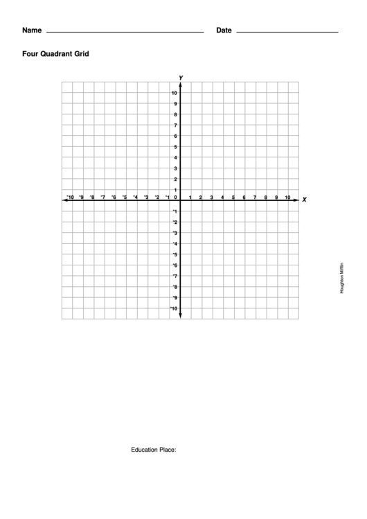 4 Quadrant Graph Paper Printable pdf