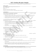 Byu Student Resume Sample