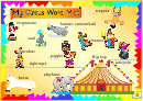Circus Word Mat Template