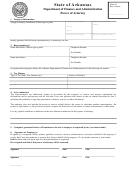 Power Of Attorney Form - State Of Arkansas Department Of Finance And Administration