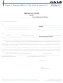 Form 50-226 - Notice To Taxpayer (property Tax Code Section 41.11)