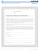 Form 50-291 - Going Out Of Business Sale Permit