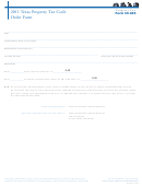 Form 50-803 - Texas Property Tax Code Order Form - 2011