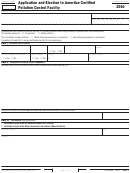 Form Ftb 3580 - Application And Election To Amortize Certified Pollution Control Facility
