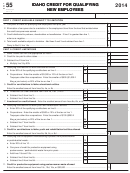 Form 55 - Idaho Credit For Qualifying New Employees - 2014