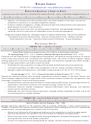 Resume Sample - Executive Assistant