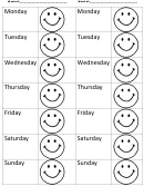 Smile Weekly Behavior Chart