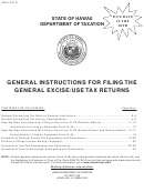 General Instructions For Filing The General Excise/use Tax Returns - Hawaii Department Of Taxation