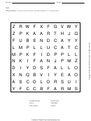 Fall Word Search Puzzle Template