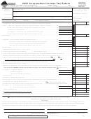 Montana Form Clt-4 - Corporation License Tax Return - 2001