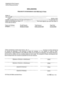 Form 4421 - Declaration - Executor's Commissions And Attorney's Fees