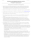 Phfa Form 1 - Cover Sheet For Preliminary Determination Request