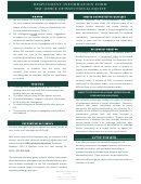 Respondent Information Form - Msu Office Of Instutional Equity