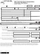 Form Ct-33-nl - Non-life Insurance Corporation Franchise Tax Return - 2012