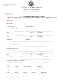 U.s. Service Academy Nomination Application - Congress Of The United States