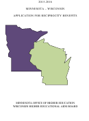 Minnesota - Wisconsin Application For Reciprocity Benefits - 2015-2016