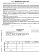 Form 1040 Es Instructions - Estimated Income Tax - City Of Jackson - 2004