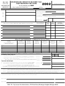 Form Mh-1065 - Muskegom Heights Income Tax Partnership Return - 2002