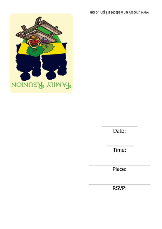 Family Reunion Invitation Template Printable pdf