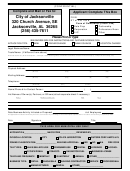 Application Form For New Companies - City Of Jacksonville