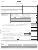 Form Mh-1040 - City Of Muskegon Heights Income Tax Individual Return - 2002
