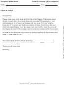 Letter To Family - Finger Addition