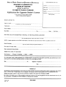 Form T-152 - Application For Cigarette Dealer's License - Rhode Island Division Of Taxation