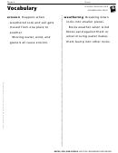 Vocabulary - Weathering And Erosion