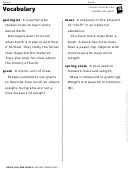 Vocabulary - Edible Rocks