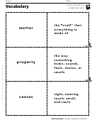 Vocabulary - Properties Of Matter