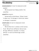 Vocabulary - Wind