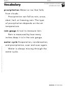Vocabulary - Rain